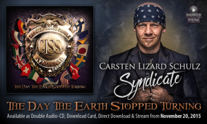 'The Day The Earth Stopped Turning': Carsten «Lizard» Schulz edita su primer disco solista